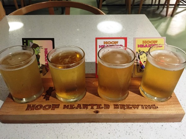 Hoof Hearted Brewing Flight-1