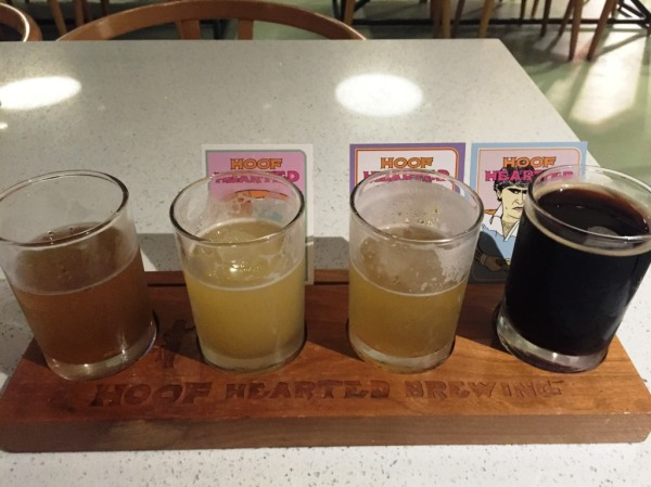 Hoof Hearted Brewing Flight-2
