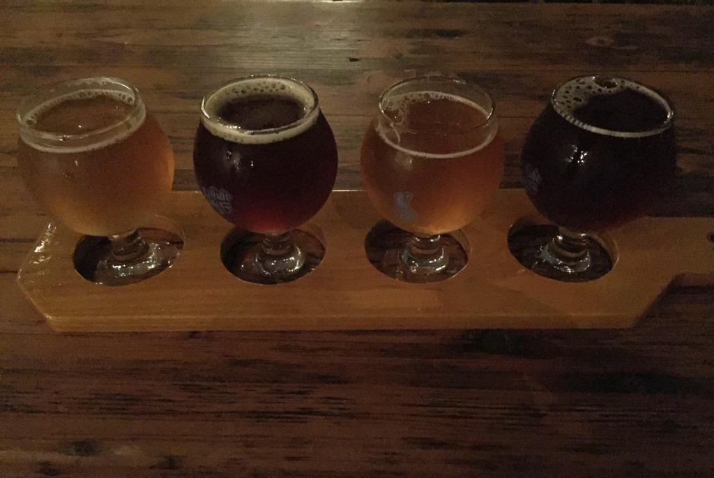 Seventh Son Brewery flight