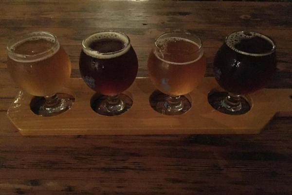 Seventh Son Brewery flight