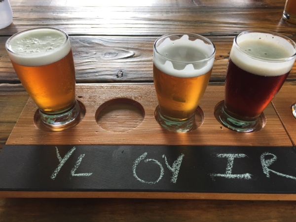 Black Walnut Brewery flight