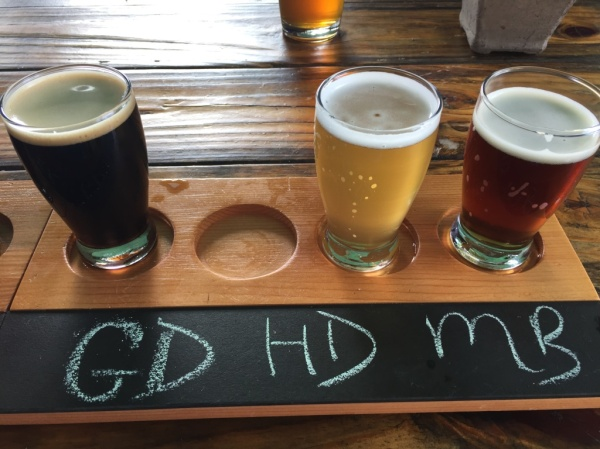 Black Walnut Brewery flight2