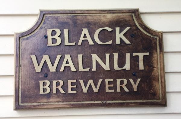 Black Walnut Brewery sign