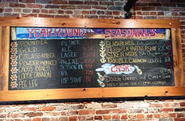 Heavy Seas Brewery Chalboard