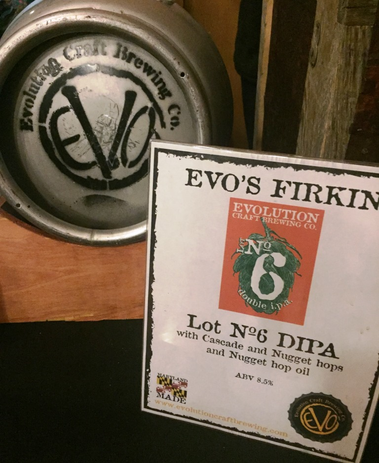 Evolution Craft Brewing Company firkin