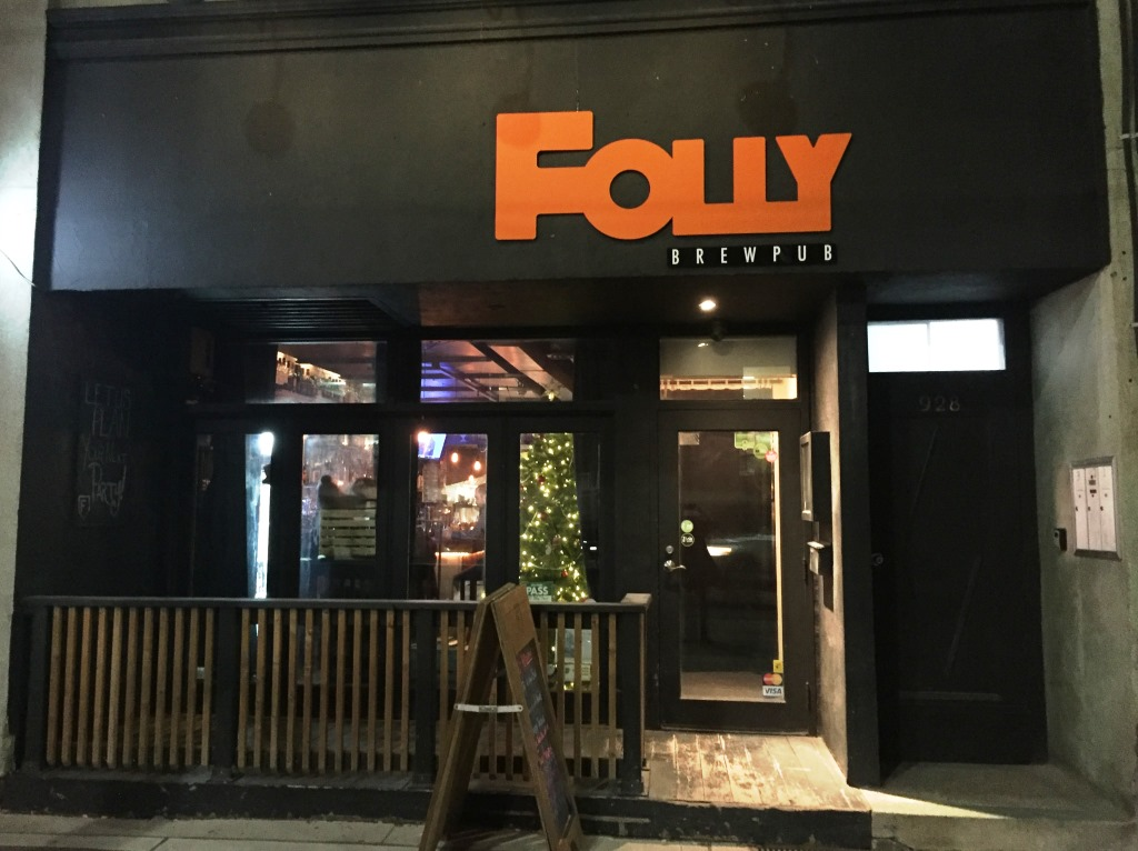 Folly Brewpub front