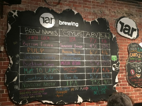 RaR Brewing Chalkboard