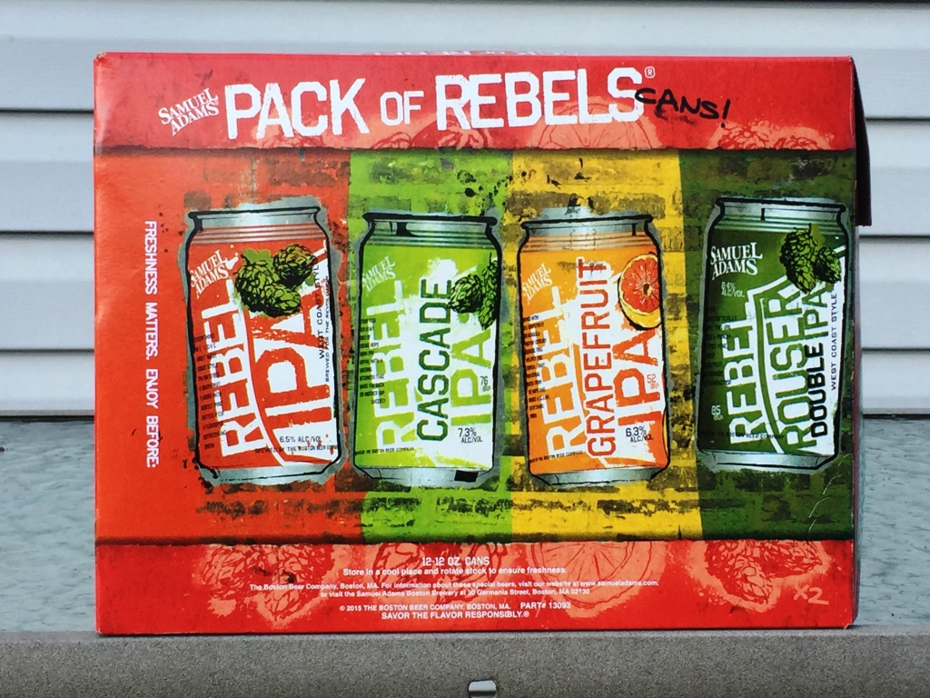 Samuel Adams Pack of Rebels cans